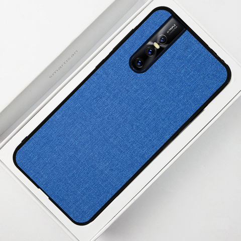 Luxury Silicone Edge+Hard Cloth Texture Case For Vivo V15 Pro - Planetcart
