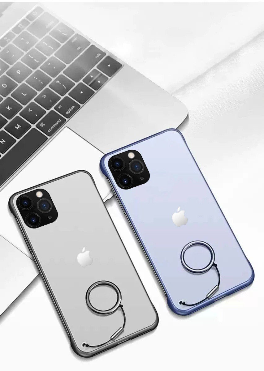 Frameless Semi Transparent Finger Ring Case For iPhone 11 Pro - Planetcart