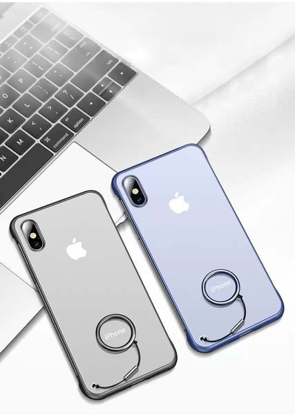 Frameless Semi Transparent Finger Ring Case For iPhone X/Xs - Planetcart
