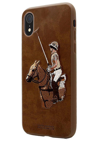 Santa Barbara Jockey Series Genuine Leather Case For iPhone XR - Planetcart