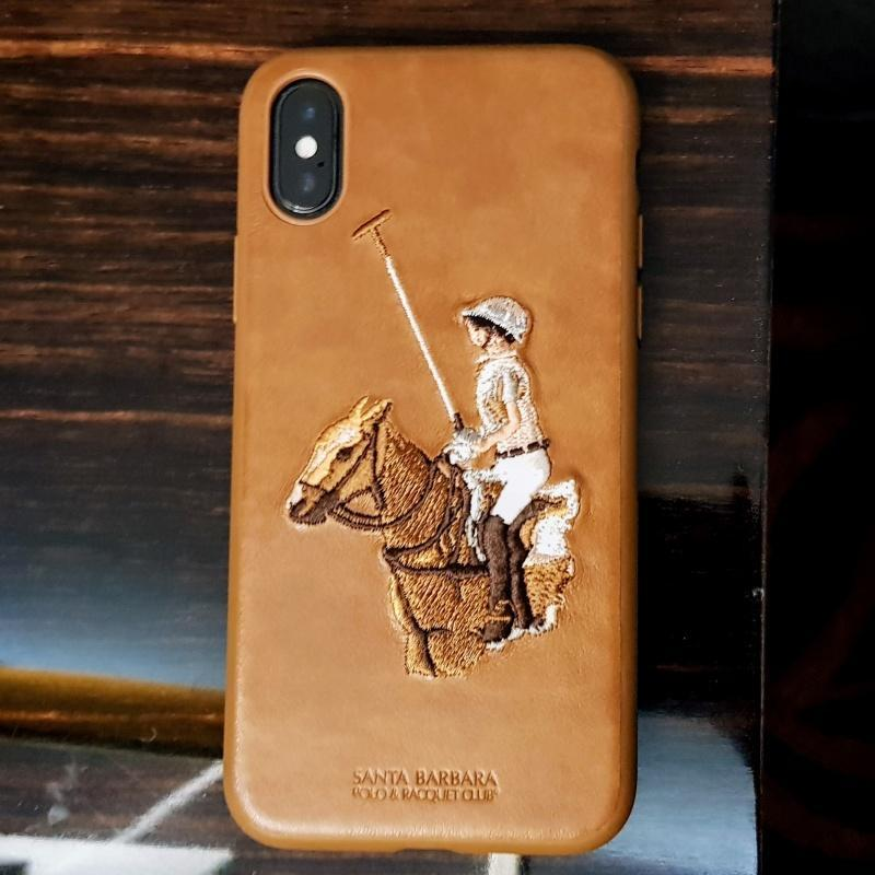 Santa Barbara jockey Series Genuine Leather Case For iPhone XS Max - Planetcart