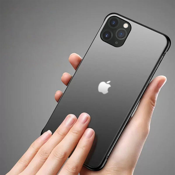 Frameless Semi Transparent Finger Ring Case for iPhone 11 Pro Max - Planetcart