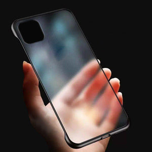 Planetcart Frameless Semi Transparent Finger Ring Case for Apple iPhone 11 Series