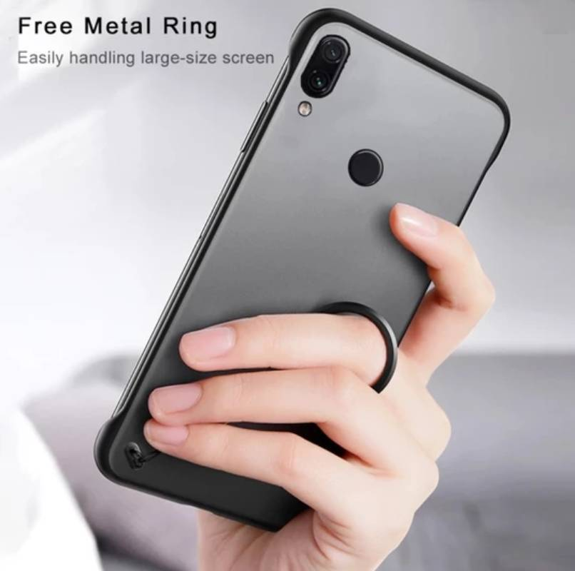 Frameless Semi Transparent Finger Ring Case for Mi Note 7/ 7 Pro - Planetcart