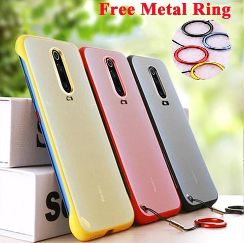 Frameless Semi Transparent Finger Ring Case for Mi Redmi 8 - Planetcart