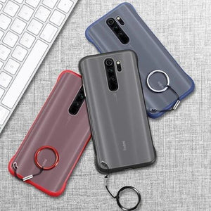 Frameless Semi Transparent Finger Ring Case for Mi Redmi Note 8 Pro - Planetcart
