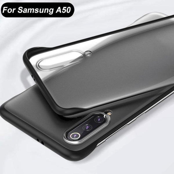Frameless Semi Transparent Finger Ring Case For Samsung A50 - Planetcart