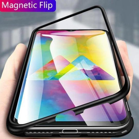 Electronic Auto Fit Magnetic Glass Case For Samsung Note 10 Plus - Planetcart