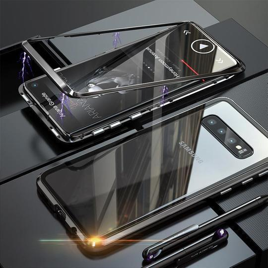Electronic Auto fit Magnetic Glass Case For Samsung Glaxy S10 - Planetcart