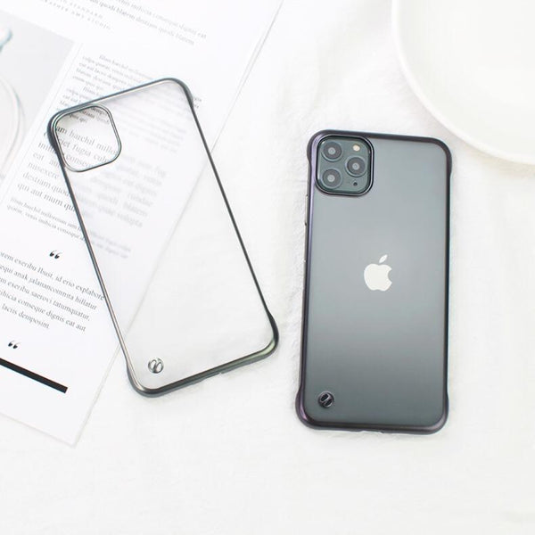 Glossy Edge Semi Transparent Premium Case For iPhone 11 Pro