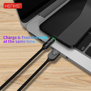 HENKS Auto Disconnect Fast Charging USB Data Sync Metal Connector Cable for Apple iPhone - Planetcart