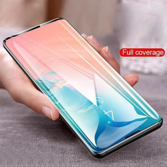 Henks Curved Tempered Glass Screen Protector Case For Samsung Glaxy S10 - Planetcart