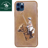 Santa Barbara Jockey Series Genuine Leather Case For iPhone 11 Pro
