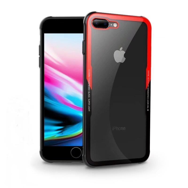 iPhone 7 Original Black & Red Tempered Glass Case - Planetcart