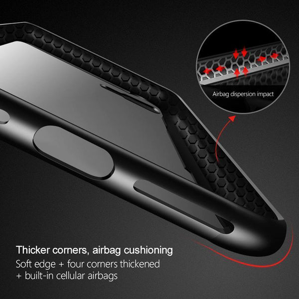 iPhone 8 Original Black & Red Tempered Glass Case - Planetcart
