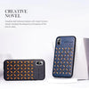 Rock Leather Weave Stud Case For iPhone XS Max