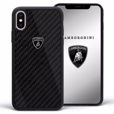 Lamborghini Genuine Elemento D3 Carbon Fiber Crafted Limited Edition Case For iPhone X/XS - Planetcart