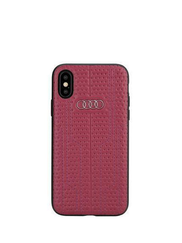 Audi A6 D1 Genuine Leather Crafted Limited Edition Case For iPhone X/XS - Planetcart