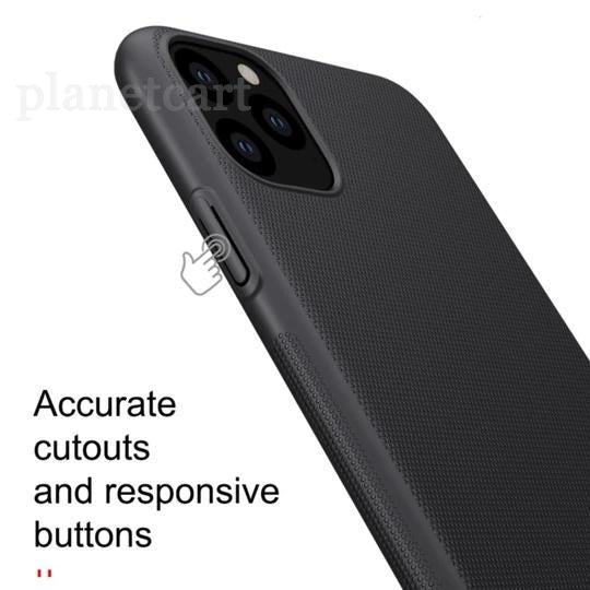 Nillkin Super Frosted Shield Back Case For iPhone 11 Pro Max Black - Planetcart