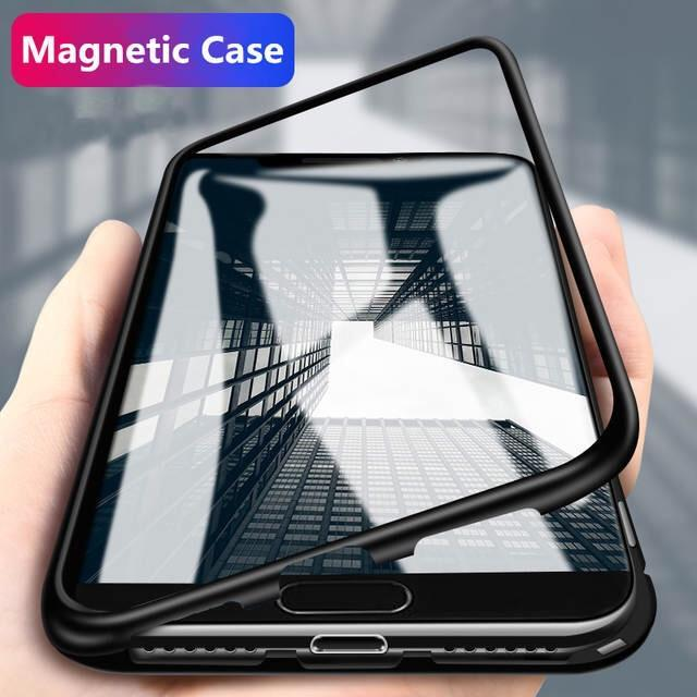 best service e466a 10587 ONEPLUS 7 PRO ELECTRONIC AUTO-FIT GLASS MAGNETIC CASE