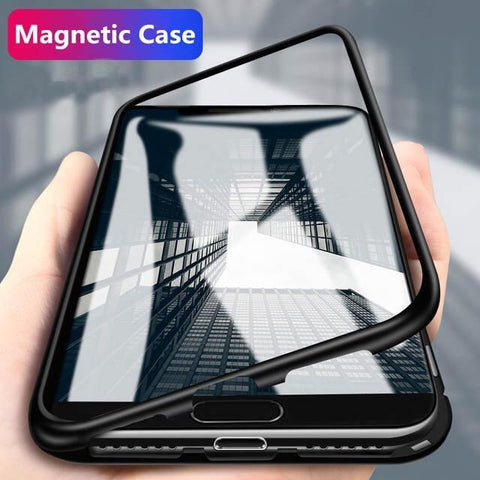Electronic Auto Fit Glass Magnetic Case For One Plus 7 Pro - Planetcart