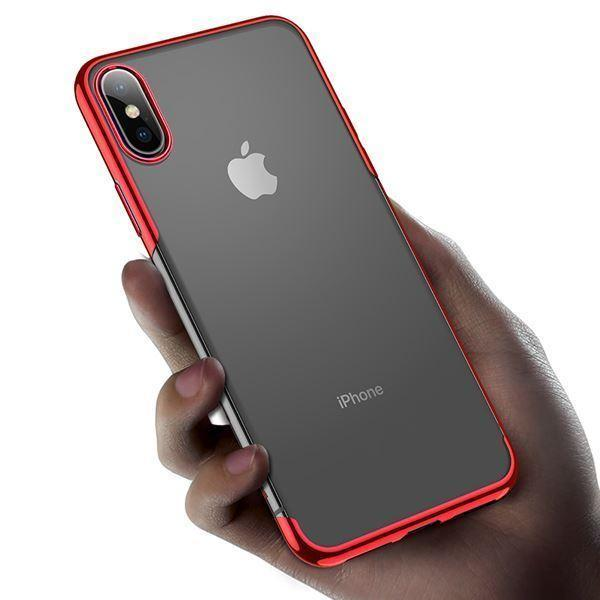 Baseus Ultra Thin Transparent Sparkling Edge Case For iPhone XS Max - Planetcart