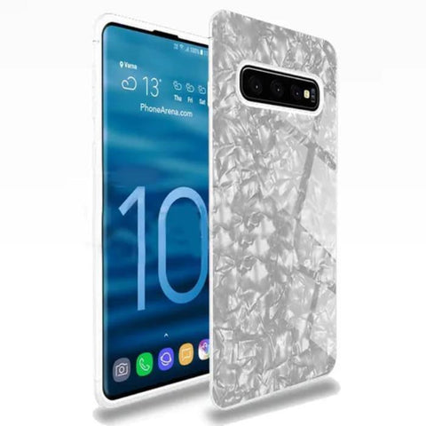 Dream Shell Textured Marble Case For Samsung Glaxy S10 - Planetcart