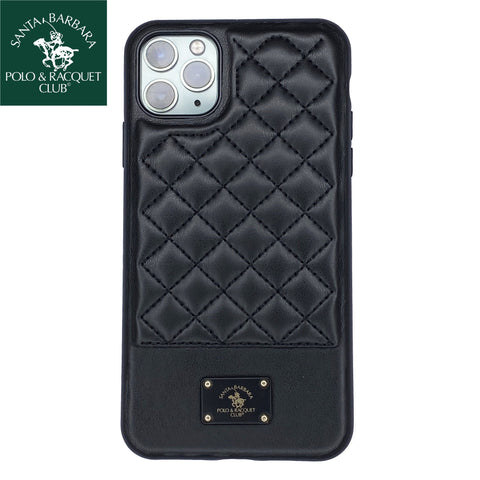 Santa Barbara Bradley Genuine Leather Case for iPhone 11 Pro Max Black - Planetcart