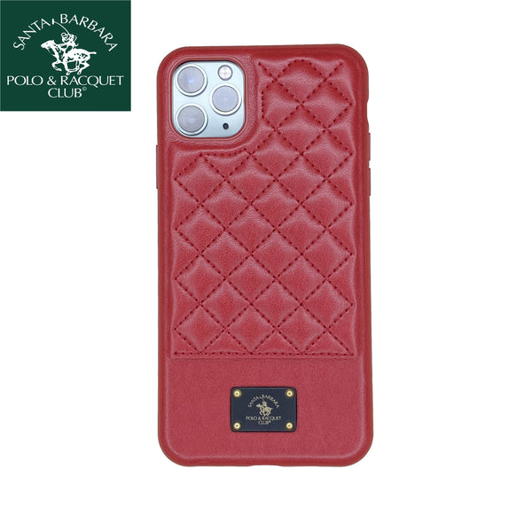 Santa Barbara Bradley Genuine Leather Case for iPhone 11 Pro Max Red - Planetcart