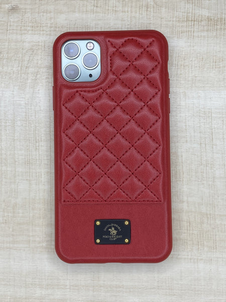 Santa Barbara Bradley Genuine Leather Case For iPhone 11 Pro Red - Planetcart