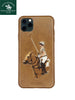 Santa Barbara Jockey Genuine Leather Case for iPhone 11 Pro Max Brown