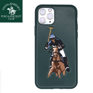 Santa Barbara Jockey Genuine Leather Case for iPhone 11 Pro Max Green - Planetcart