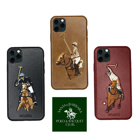 Santa Barbara Jockey Series Genuine Leather Case for iPhone 11 Pro Max