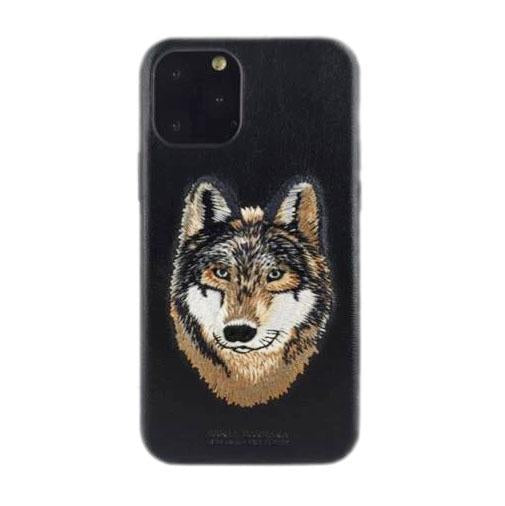 Santa Barbara Savana Genuine Leather Case for iPhone 11 Pro Max Wolf - Planetcart