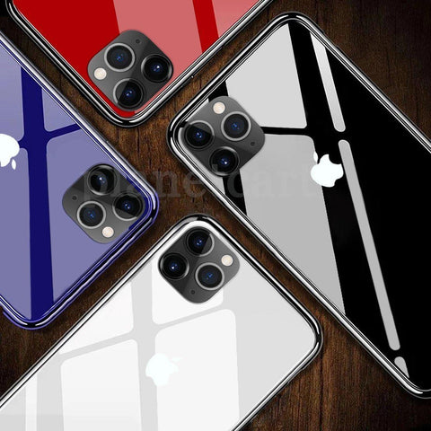 Special Edition Glossy Glass Soft Edge Case For iPhone 11 Pro