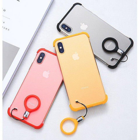 Frameless Semi Transparent Finger Ring Case for Apple iPhone X/XS - Planetcart