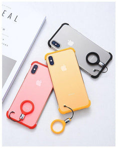 Frameless Semi Transparent Finger Ring Case for iPhone XR - Planetcart