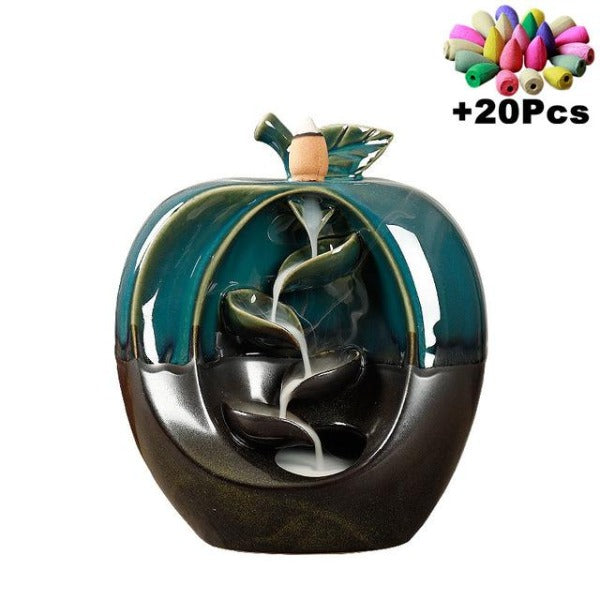 H2HS Ceramic Waterfall Incense Burner