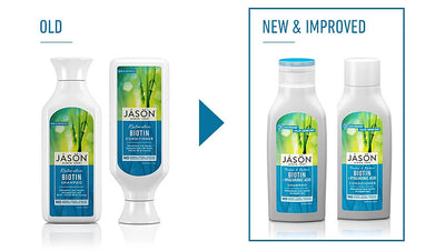NEW & IMPROVED formula in Jason haircare products