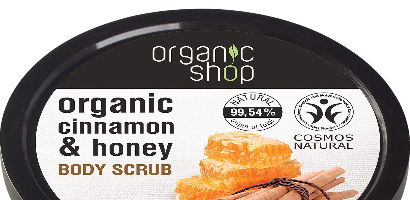 Organic-Shop-Body-Scrub-Honey-Cinnamon-buy-online-from-official-UK-stockist-Beautybypost