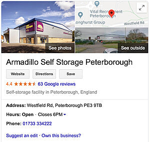 Beautybypost Warehouse address Armadillo Self-storage in Peterborough