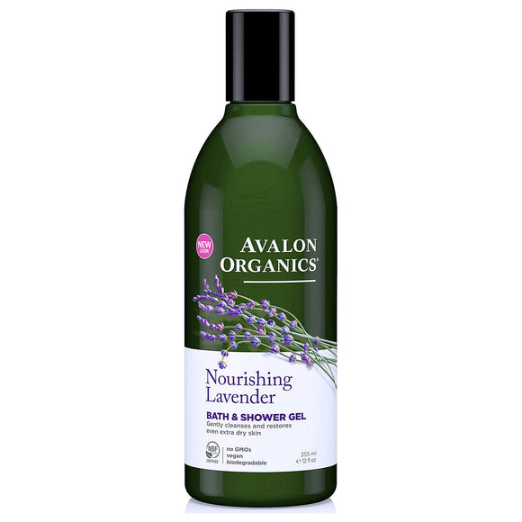 Avalon-Organics-Nourishing-Lavender-Bath-and-Shower-Gel-355ml(9305)