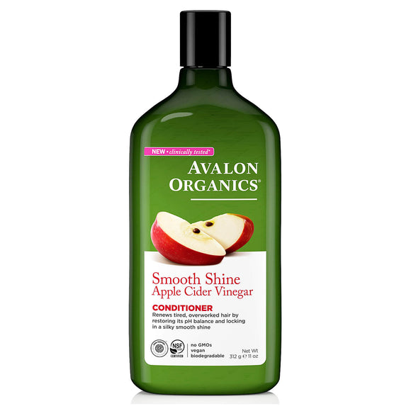 Avalon-Organics-Smooth-Shine-apple-cider-vinegar-conditioner-312g(9122)