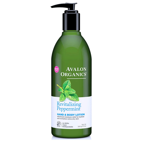 Avalon Organics-Revitalising-Peppermint-Hand-and-Body-lotion 340g(9207)