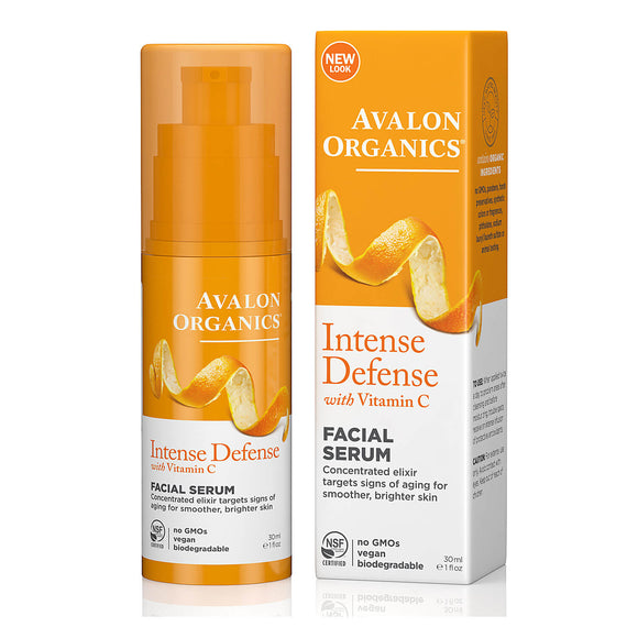 Avalon Organics Intense Defense Vitamin C Vitality Facial Serum 30ml (9472)