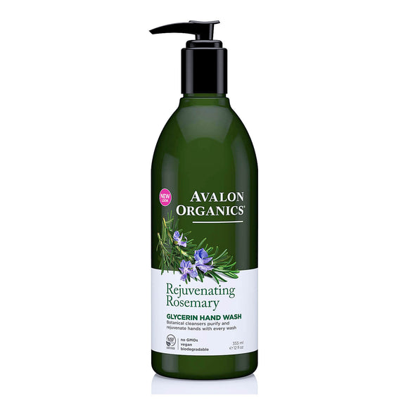 Avalon Organics Rejuvenating Rosemary Glycerin hand soap 355ml(9358)