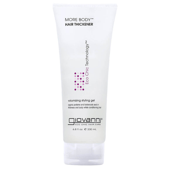 GIOVANNI MORE BODY hair thickener volumising styling gel