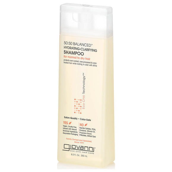 Giovanni 50 50 Balanced Hydrating Clarifying shampoo for normal or dry hair 250ml (4105)