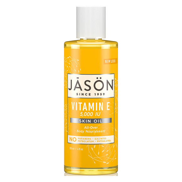 Jason pure natural skin oil VITAMIN E 5000 IU body nourishment 118ml (0204) to fight fine wrinkles