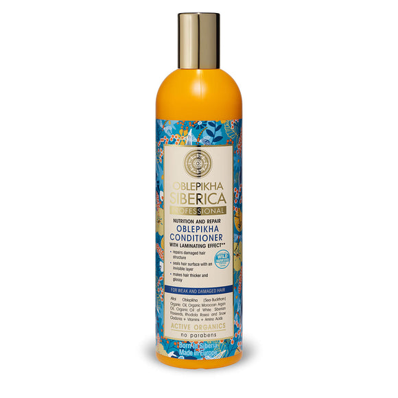 Natura Siberica Nutrition and Repair Oblepikha Conditioner for Weak and Damaged hair 400ml (0147)